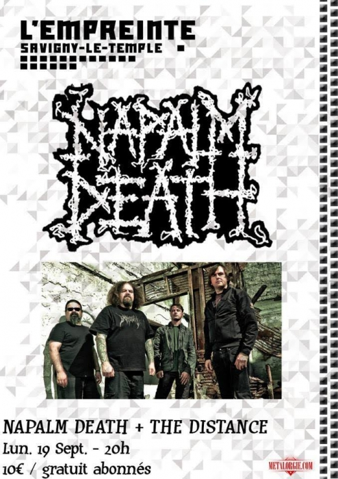 THE DISTANCE, NAPALM DEATH