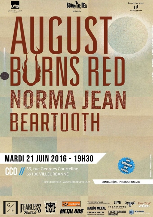 Beartooth01, Norma Jean02, August Burns Red03